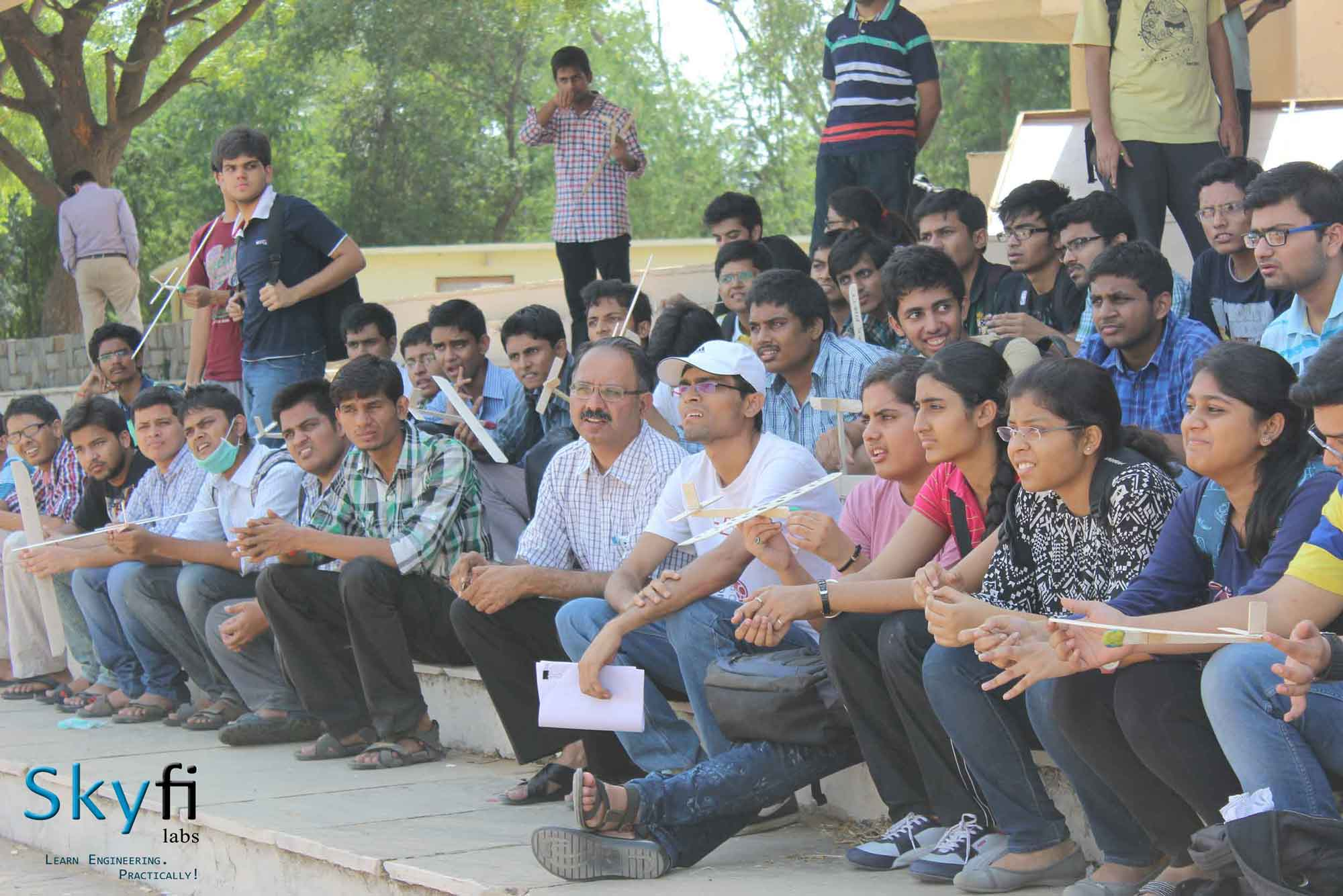 PROFESSOR  P.V.M RAO with Students