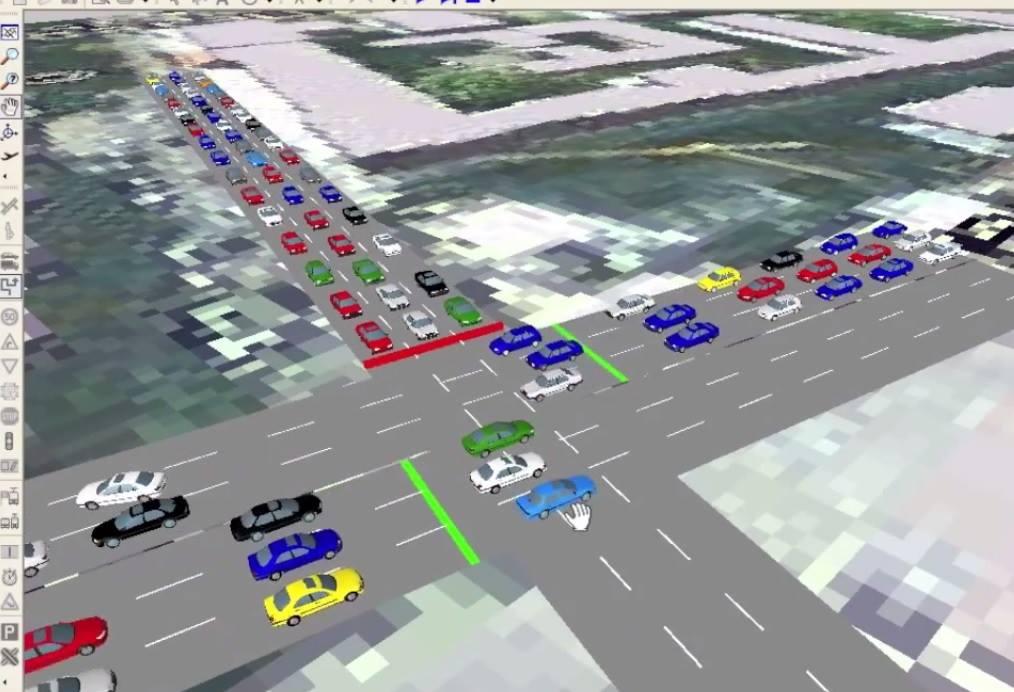 Traffic Simulation Google Earth