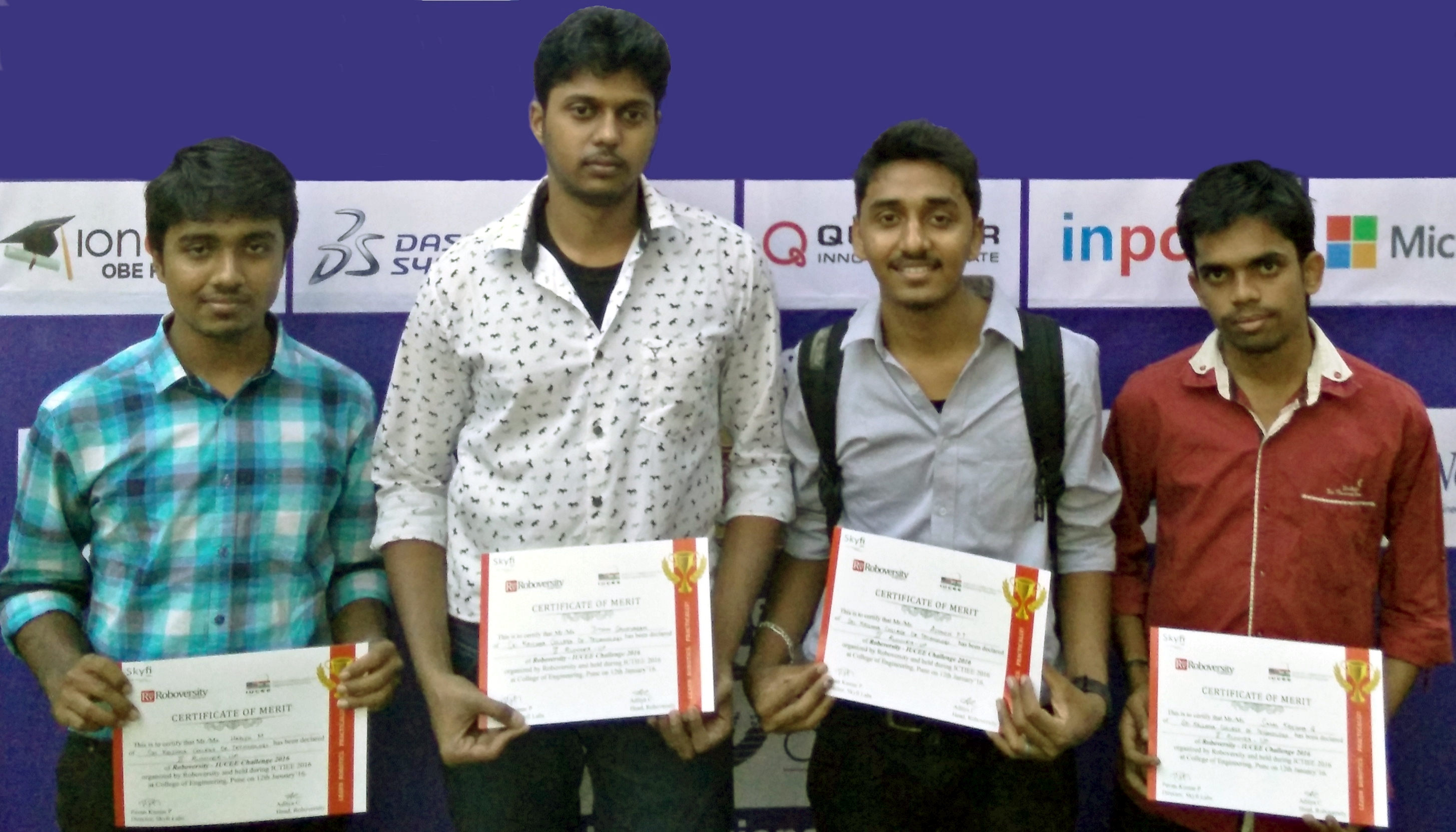 Roboversity IUCEE Challenge 2016 Second Runners Up