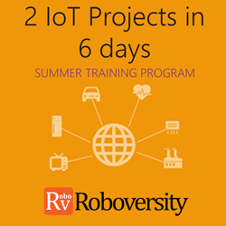 Summer Training Program in Internet of Things - 2 IOT Projects in 6 days