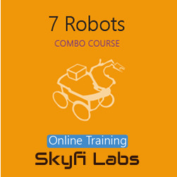 7 Robots Online Project based Course (Combo Course)  at Online Workshop