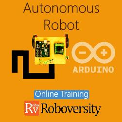 Autonomous Robot Online Project based Course for School Students  at Online Workshop