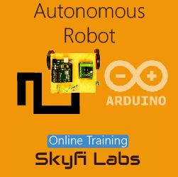 Autonomous Robot Online Project based Course for School Students  at Online Workshop