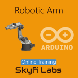 Robotic Arm using Arduino Workshop  at Skyfi Labs Center, Gandhipuram Workshop