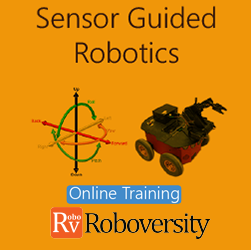 Sensor Guided Robotics Online Project based Course  at Online Workshop