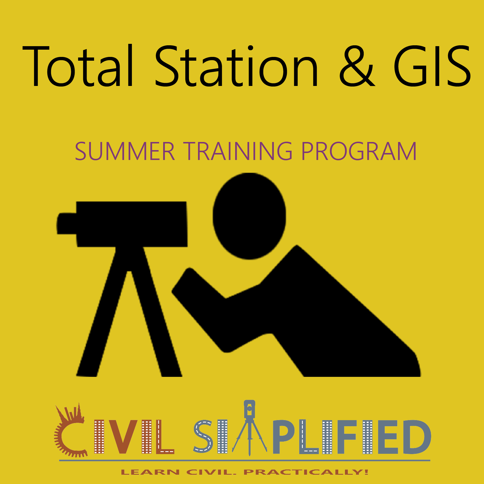 Summer Training Program in Civil Engineering - Total Station and GIS  at Skyfi Labs Center, Gateforum, Vishal Mega Mart, VIP Road Workshop