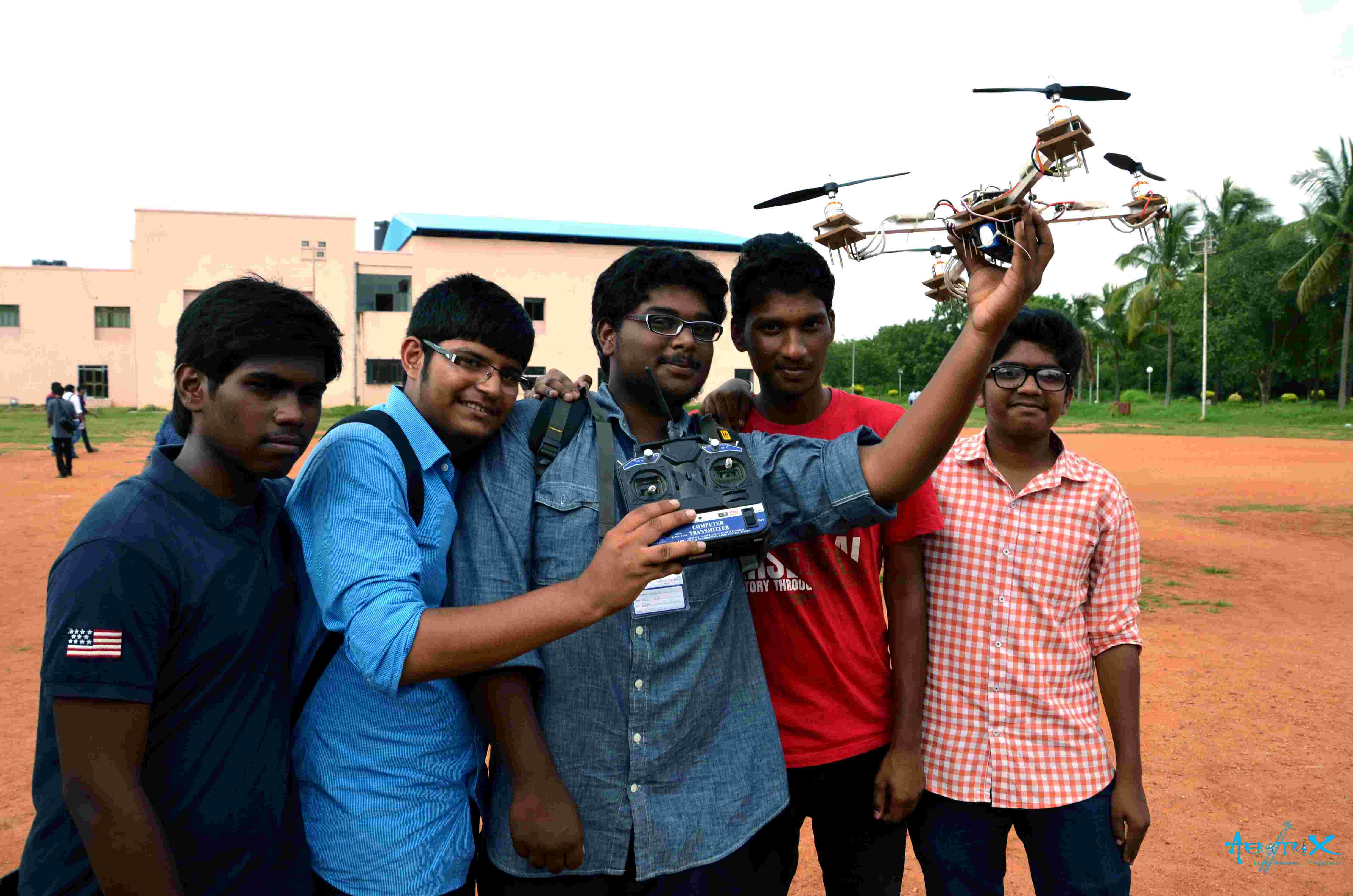 Students with their Quadrotor