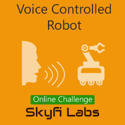 Voice Contolled Robot Project - A Challenge  at Online Workshop