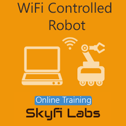 WiFi Controlled Robot Online Project based Course  at Online Workshop