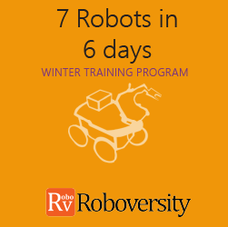 Winter Training Program in Robotics - 7 Robots in 6 Days