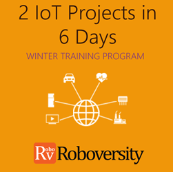 Winter Training Program on Internet of Things - 2 IOT Projects in 6 days  at Skyfi Labs Center, Gateforum, Vishal Mega Mart, VIP Road Workshop