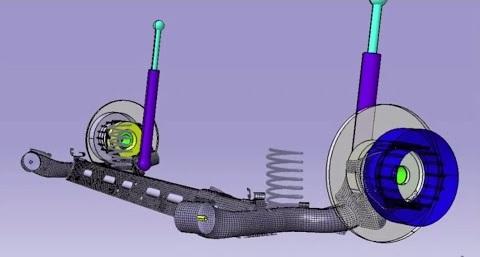 Car Model in ADAMS