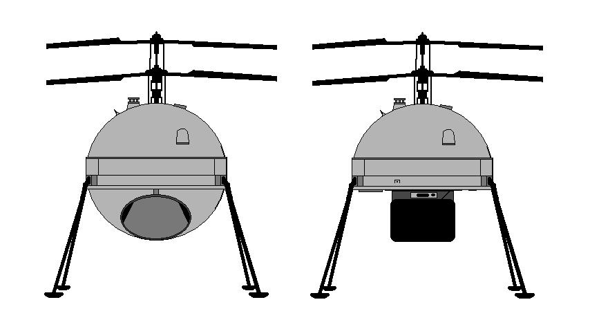 Cylinder shaped co-axial drone