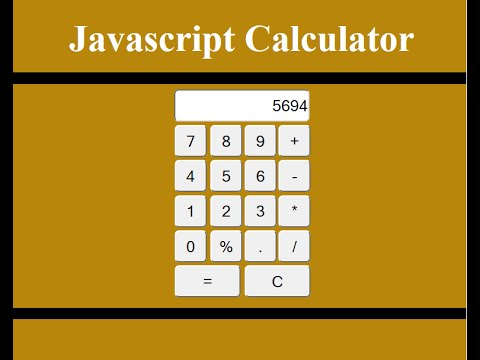 Designing a Calculator with HTML, CSS, JavaScript