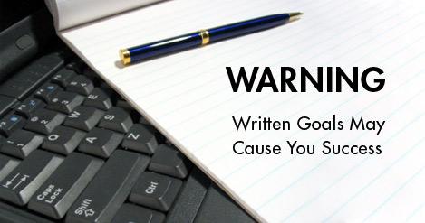 Written goals help in success