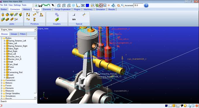 IC Engine Valve mechanism simulation using MSC ADAMS