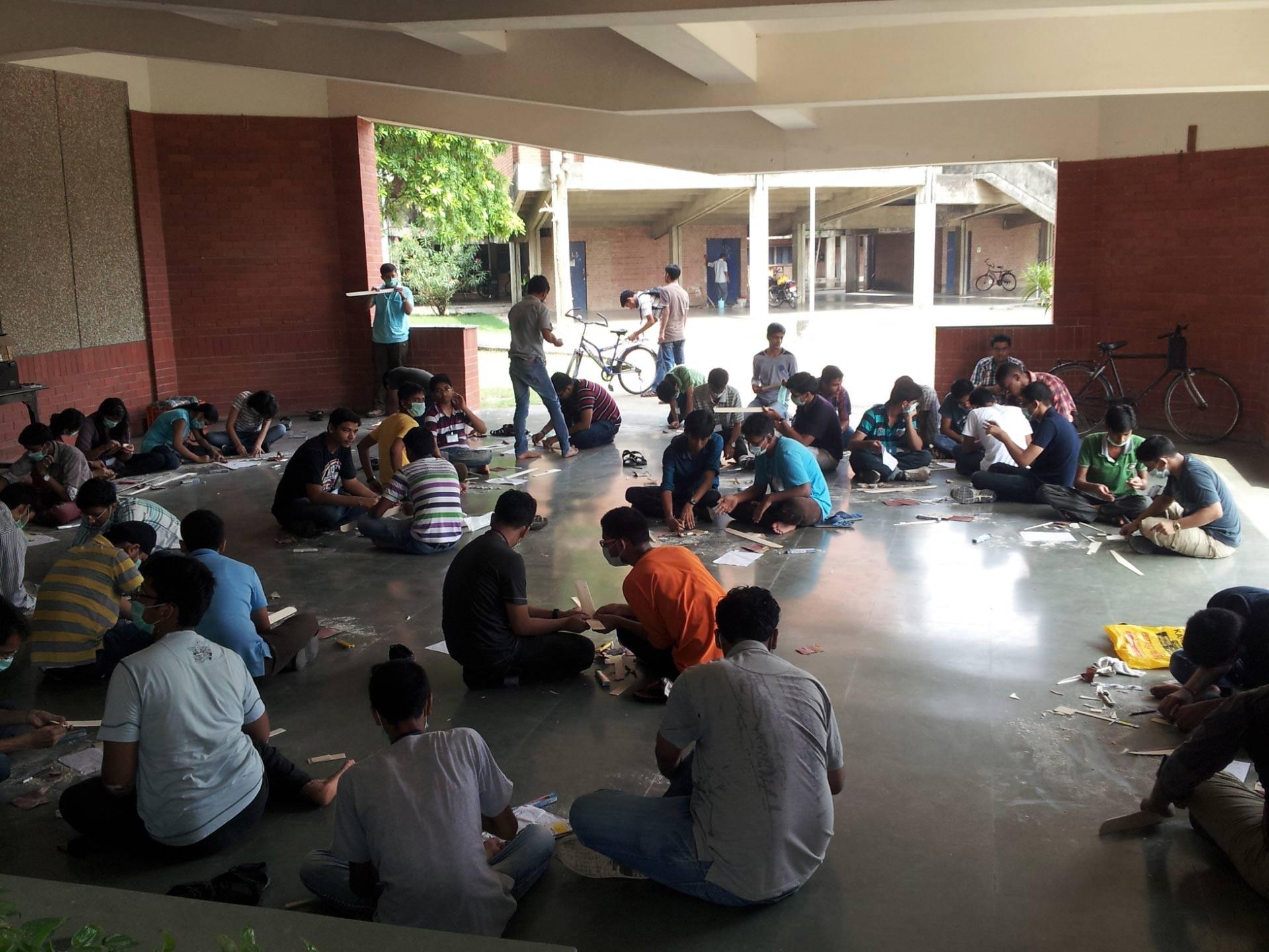 IITK Students Making Glider