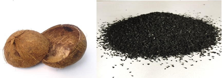 Preparation of Activated Carbon from locally available material Viz. is Coconut shells