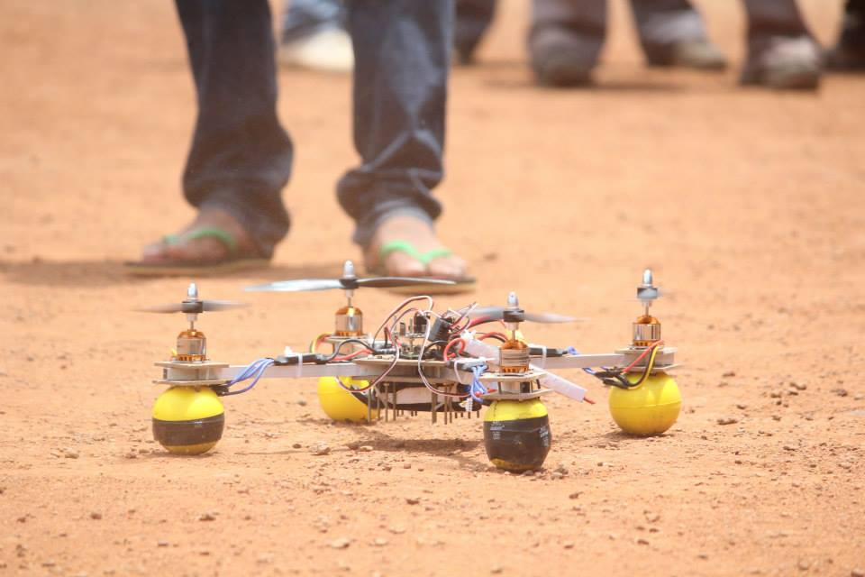 Lift off Image of Quadrotor