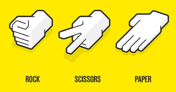 Rock, papaer, scissor game using python