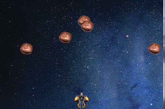 Space War Shooting Game using JavaScript