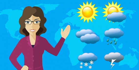Weather tracing application using pure java script