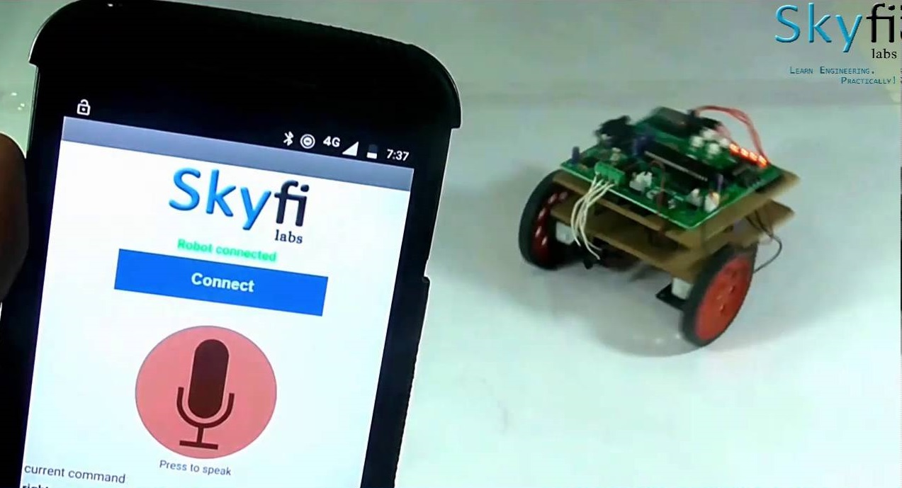 Voice controlled robotics kit for engineering students