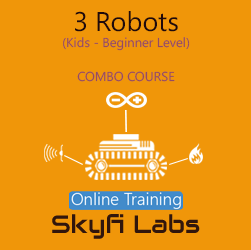 3 Robots for School Students Online Project based Combo Course  at Online Workshop