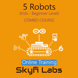 5 Robots for School Students Online Project based Combo Course  at Online Workshop