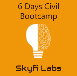 6 Days Civil Bootcamp  at Skyfi Labs Center, Nesto Finance Institute, T-Nagar Workshop