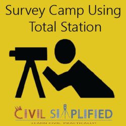 Survey Camp using Total Station Workshop Civil Engineering at Christ University Workshop