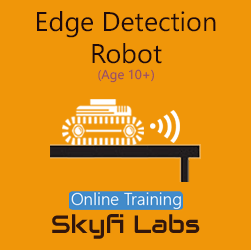 Edge Detection Robot for School Students Online Project Based Course  at Online Workshop