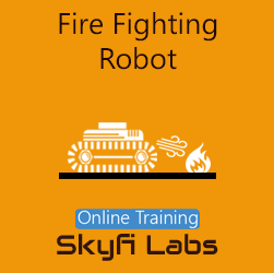 Fire Fighting Robot Online Project-based Course  at Online Workshop