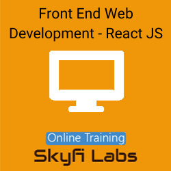 Front End Web Development with React JS Online Live Course  at Online Workshop