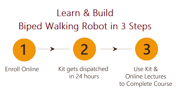 Learn and Build Biped Walking Robot Project in 3 Steps