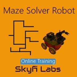 Maze Solver Robot Online Project based Course  at Online Workshop