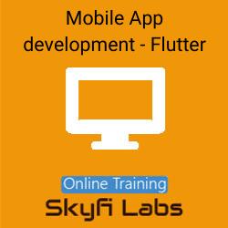 Mobile App development using Flutter Online Live Course  at Online Workshop