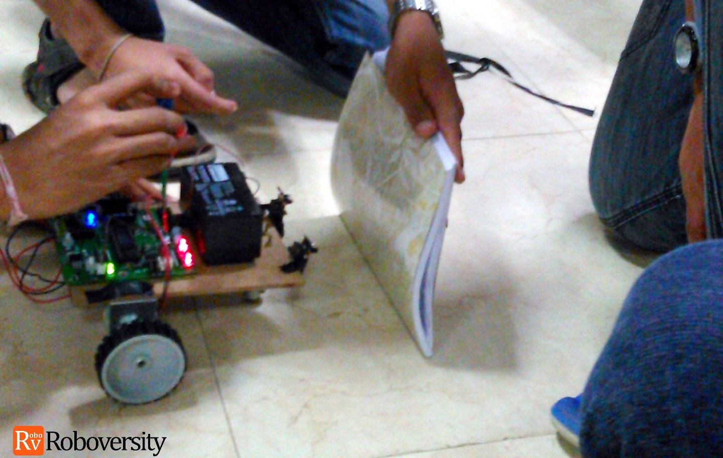 Sensor guided robot