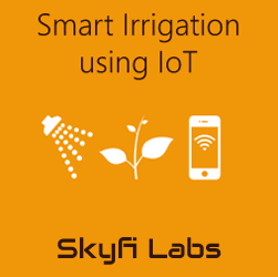 Smart Irrigation System using IoT  at Skyfi Labs Center Workshop