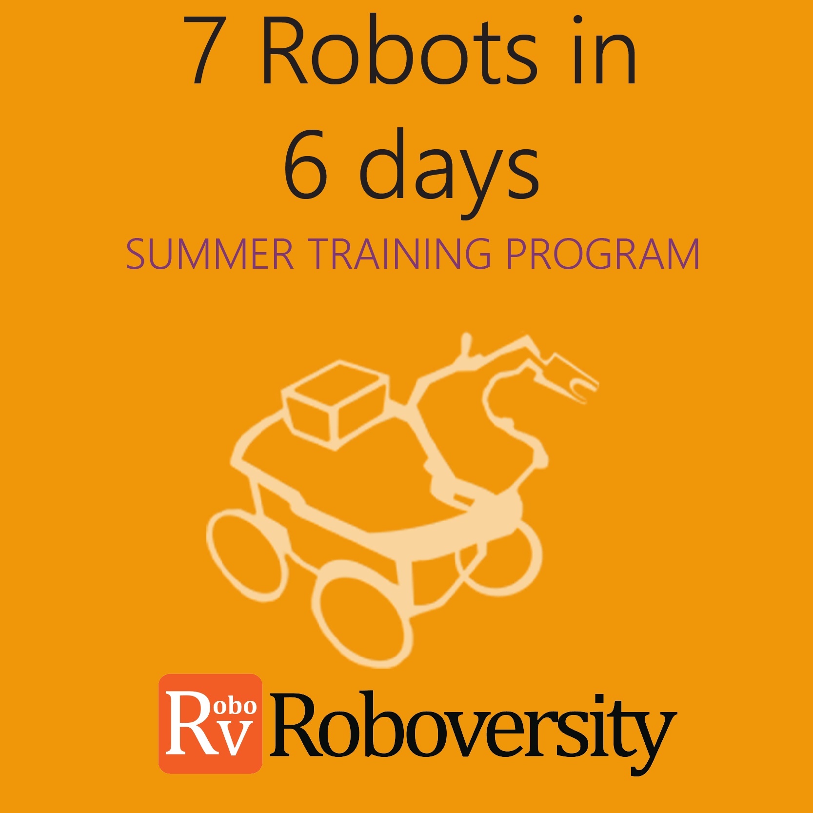 Summer Training Program on 7 Robots in 6 Days