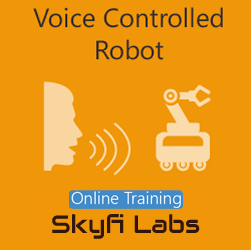 Voice Controlled Robot Online Project based Course  at Online Workshop