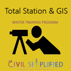 Winter Training Program in Civil Engineering - Total Station and GIS in Hyderabad